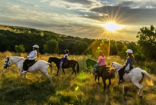 Sunset Horseback safari at Harties Horse Trail Safaris